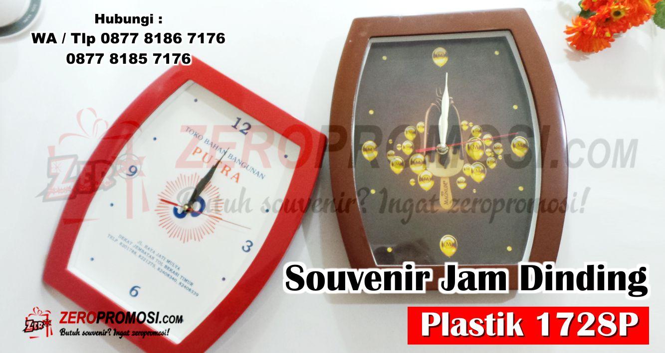 Souvenir Jam Dinding / Meja Kode 1728P, Best Product Jam Dinding 1728P, Souvenir Kantor Murah Jam 1728 P, Jam 1728 P Kotak Custom Logo Murah