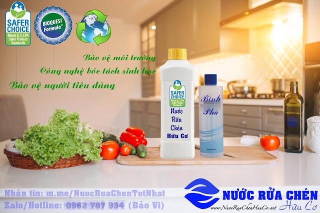Nước rửa chén hữu cơ đạt tiêu chuẩn Safer Choice
