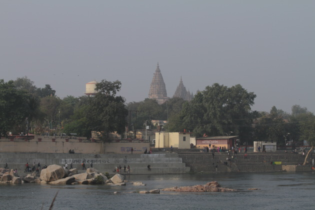 Chatturbhuj temple as seen from on the Betwa river