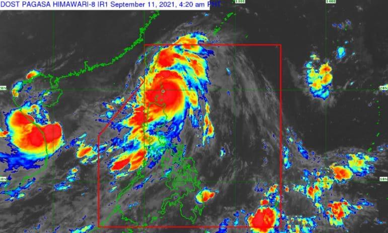 Satellite image of 'Bagyong Kiko' as of 4:20 am, September 11, 2021