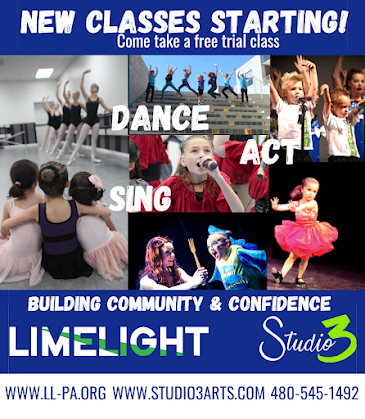 THIS MONTH'S SITE SPONSOR: Studio 3 / Limelight Youth Theatre presents