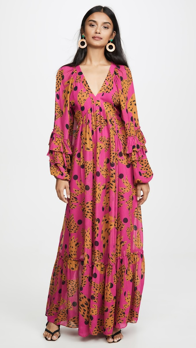 Tory Burch FARM Rio Pink Banana Maxi Dress