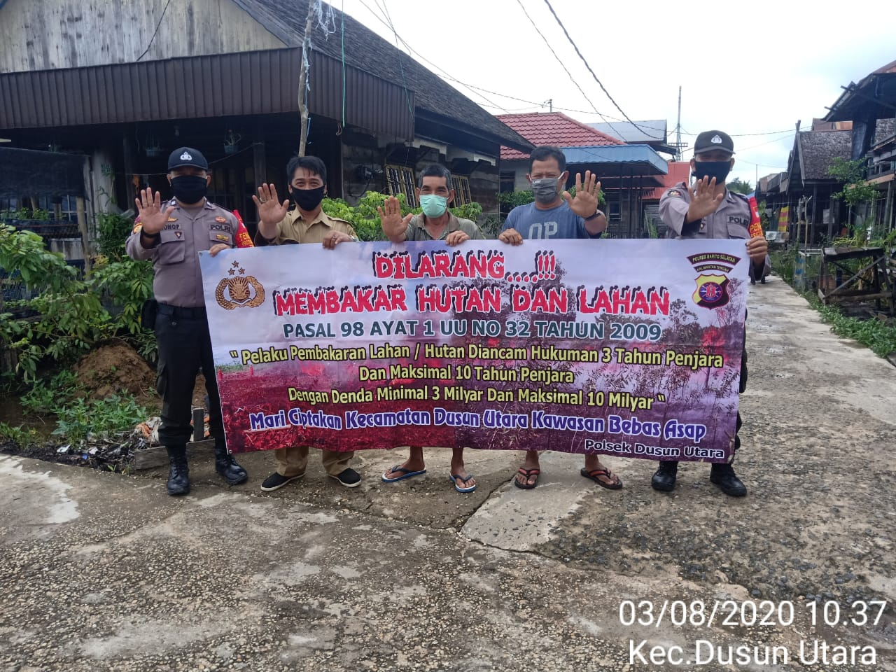 Wujudkan Wilayah Bebas Karhutla, Polsek Dusut Tingkatkan Sosialisasi Larangan Karhutla