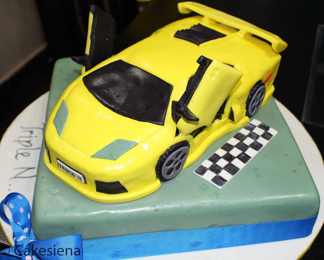 cake, birthday cake, car cakes, lamborghini cake, cakes in lagos, cakesiena
