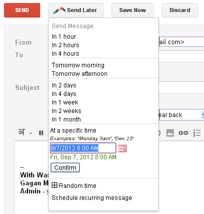 Scheduling With Boomerang