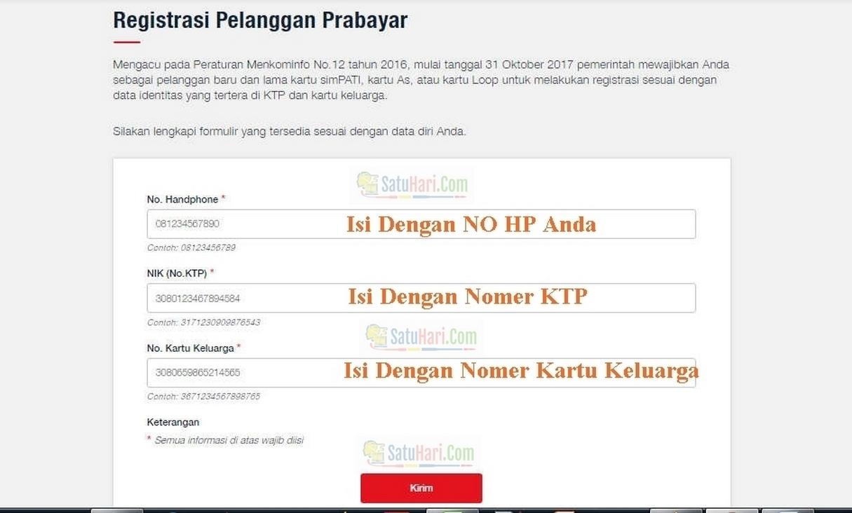 Sms Online Cara Registrasi Kartu Prabayar Semua Operator Terbaru
