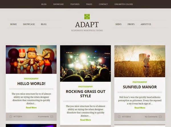 Adapt Free Blogger Template