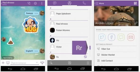 تحميل أخر تحديث لتطبيق فايبر للاندرويد والايفون والأيباد والأيبود تاتش لإجراء المكالمات الصوتية وإرسال الرسائل مجاناً Viber free 5.6.0.2413