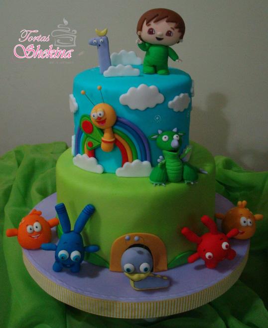 torta infantil decorada para cumpleaños en caracas charlie y los numeros