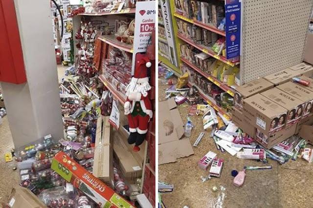 Lojas Americanas destruída