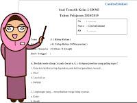 Soal Tematik Kelas 2 Tema 1 Subtema 4 Semester 1