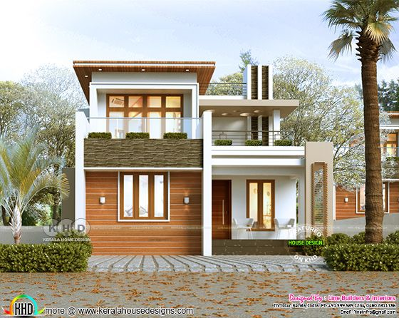 Contemporary house day light rendering