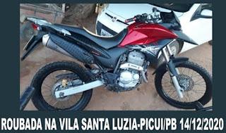 Assalto foi registrado em Santa Luzia do Seridó, distrito de Picuí