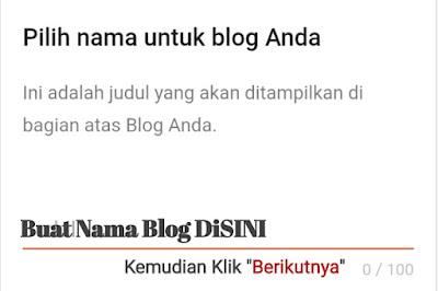 Buat Nama Blog