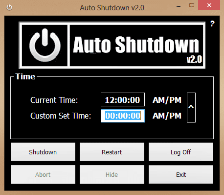 Programa para desligar o computador automaticamente