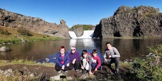 Cascada Hjálparfoss. Islandia, Iceland.