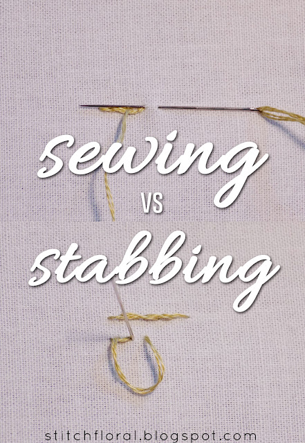 sewing method of stitching stabbing method of stitching