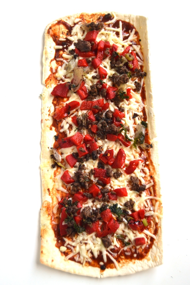 BBQ Beef Flatbread Pizza