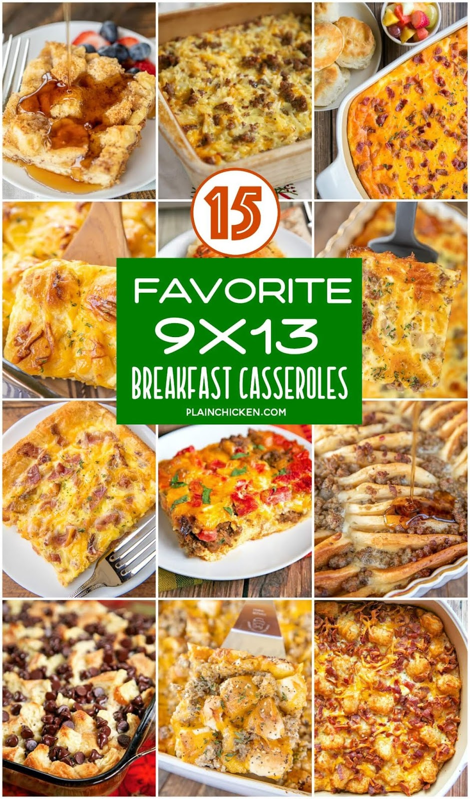 collage of 15 breakfast recipes