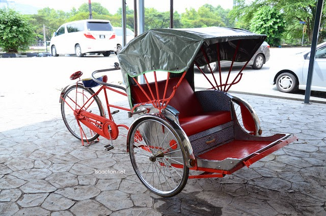 A trishaw up front, befitting the theme of Old Tricycle BBQ Yong Tau Foo