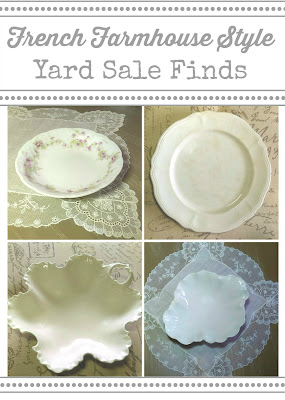 French farmhouse yard sale finds