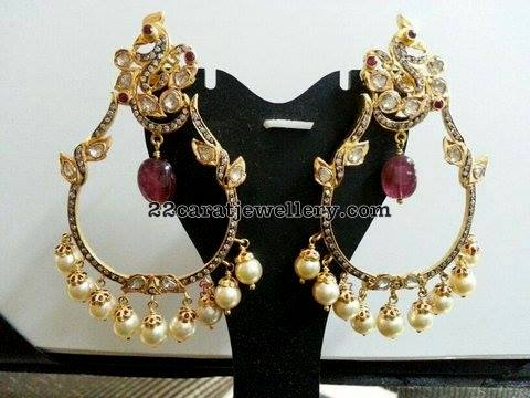 Black Rhodium Finish Trendy Chandbalis