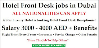 Front Desk Receptionist Jobs In Import and Export Company Dubai