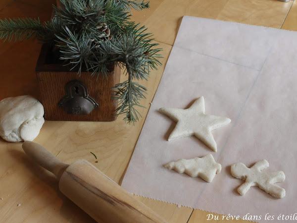 Noël 2019, ornements en pâte à sel