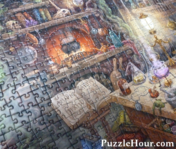 Witches Kitchen Ravensburger jigsaw puzzle complete spell book jigsaws puzzles halloween witch