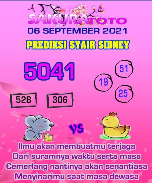 Prediksi Sakura Toto Sidney Senin 06 September 2021