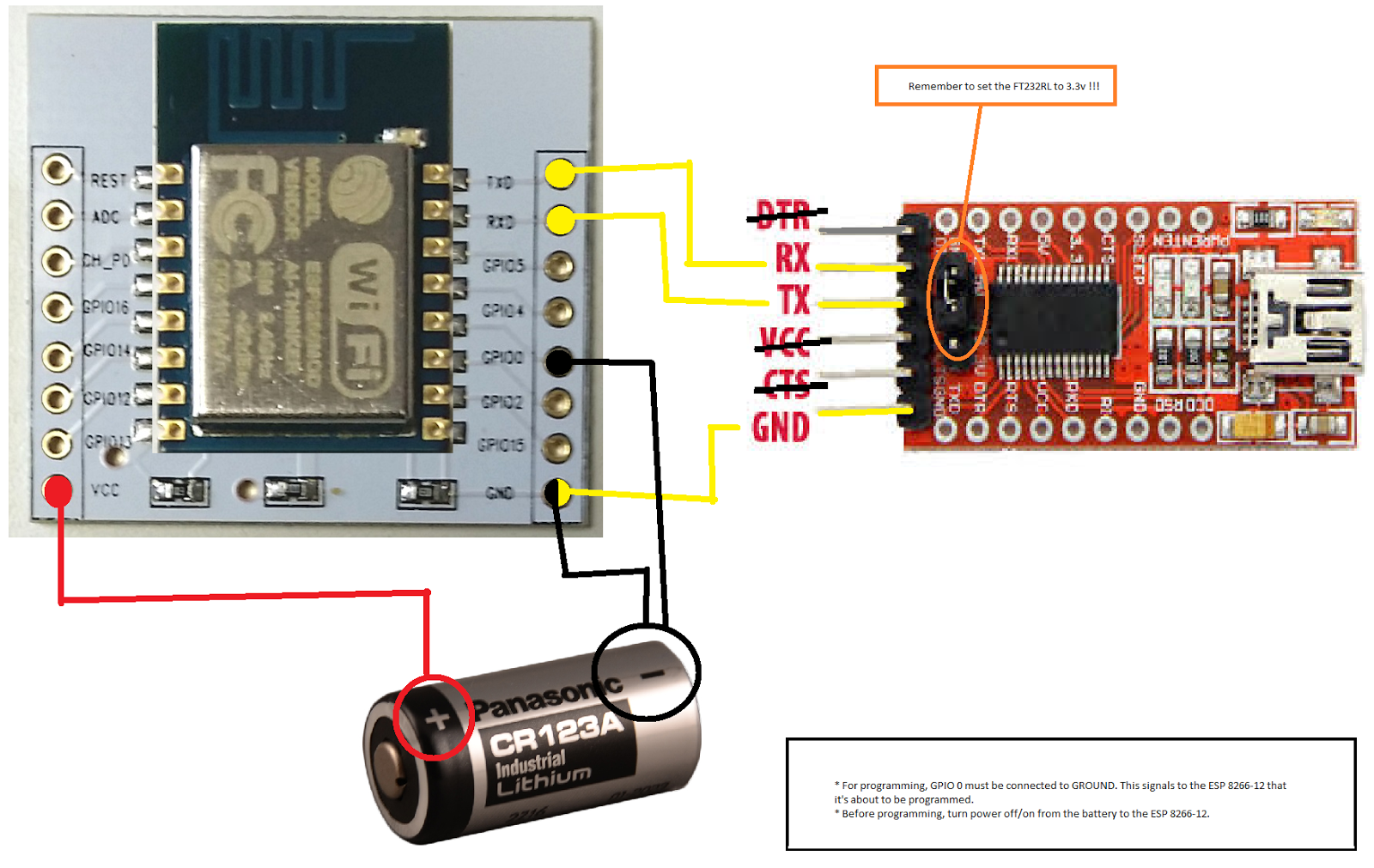 Programming A Standalone Esp 8266 12 Using Arduino Ide And Ft232rl Pic Programmer Schematic Together With Serial Connect The Components As Per Following Pictures