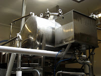 Soybean cooking equipment at Hodo Soy Beanery