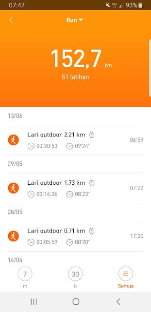 Lari Pagi Menggunakan Xiaomi Amazfit Bip
