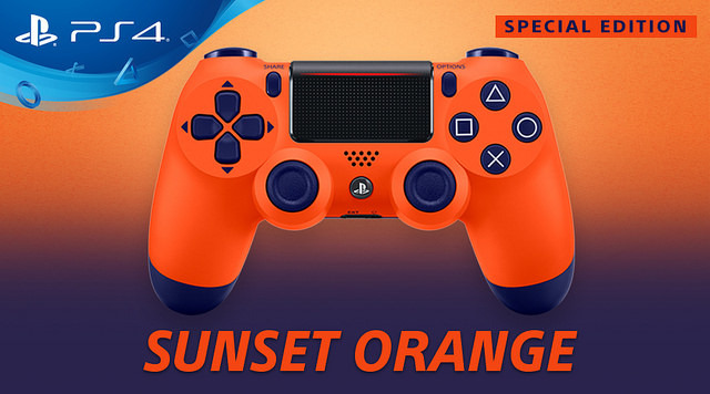 الإعلان عن نسخة محدودة من يد التحكم لجهاز PlayStation 4 باللون البرتقالي