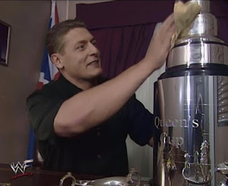 WWE / WWF Insurrextion (2001) - William Regal polishes The Queen's Cup
