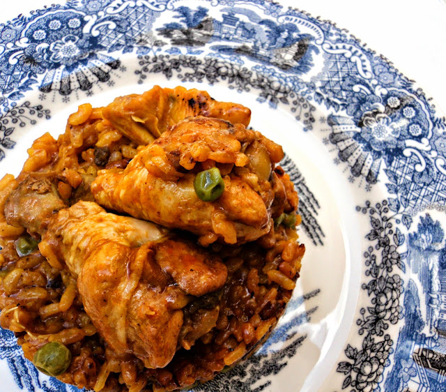 arroz-pollo-alcachofas-guisantes-muslos