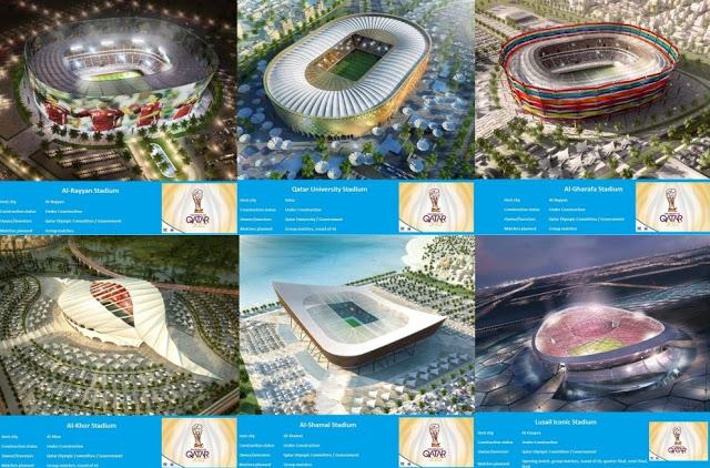 Megahnya Stadion-stadion Qatar Untuk Piala Dunia 2022