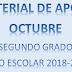 MATERIAL DE APOYO (octubre) 2° PRIMARIA ciclo escolar 2018-2019