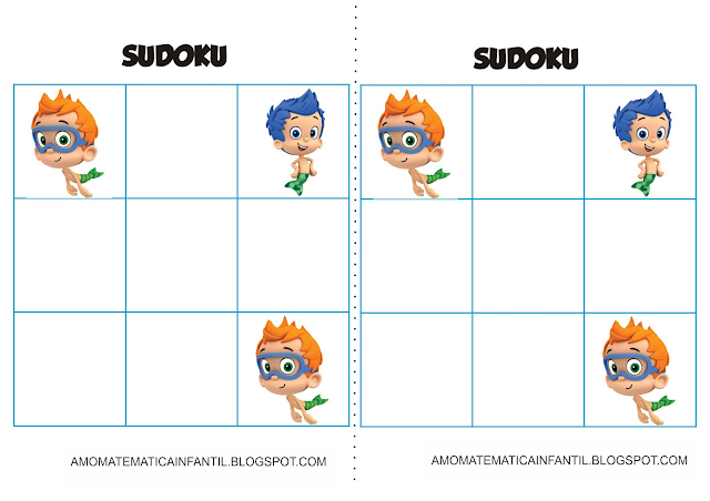 Cartelas Sudoku Bubble Guppies