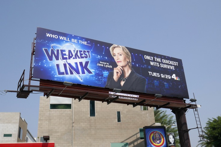 Weakest Link series launch billboard