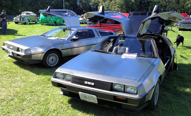 Early and late model DMC DeLoreans