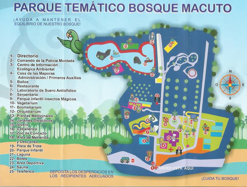Precios, horarios y reservaciones para el Parque Temático Bosque Macuto en Barquisimeto. Mapa del Parque Temático Bosque Macuto en Barquisimeto