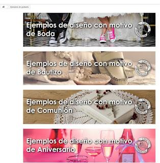 Ejemplos de diseño de grabado con motivo de Boda