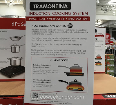Costco 1000902 - Cook more efficiently with less energy/heat loss with the Tramontina Induction Cooking System