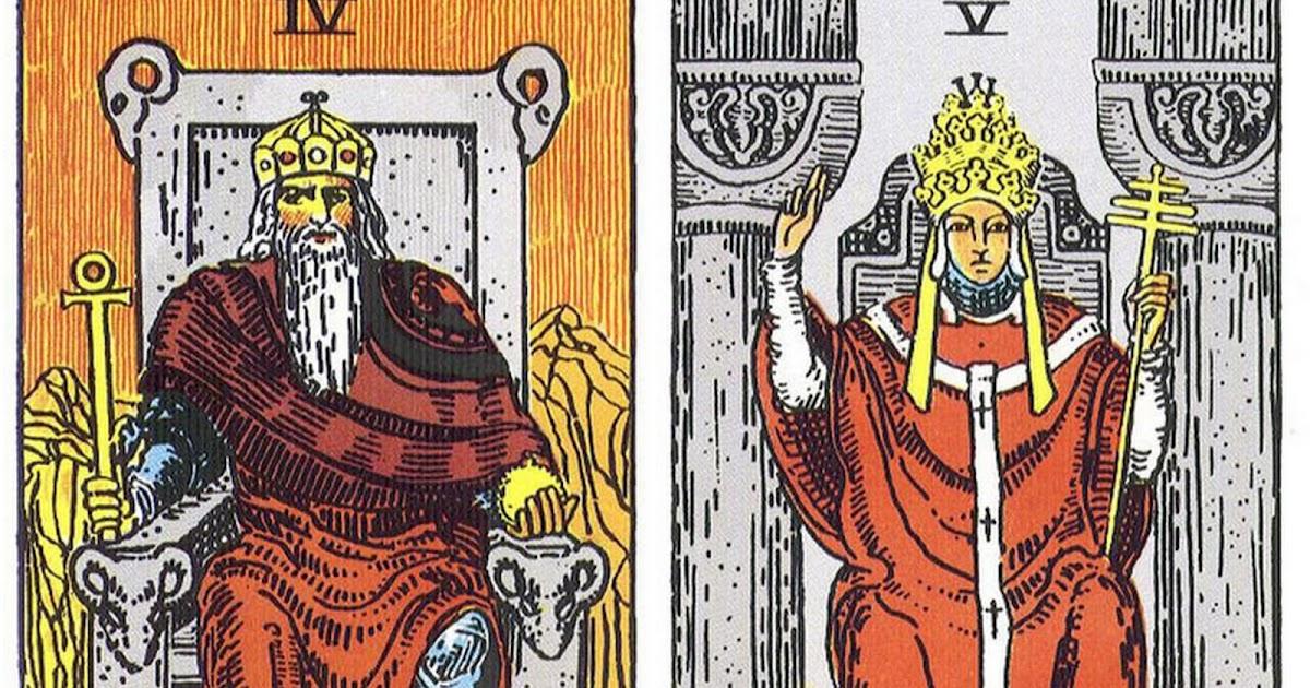 塔羅的奇幻旅程: 塔羅裡的兩位男性:世俗與天國