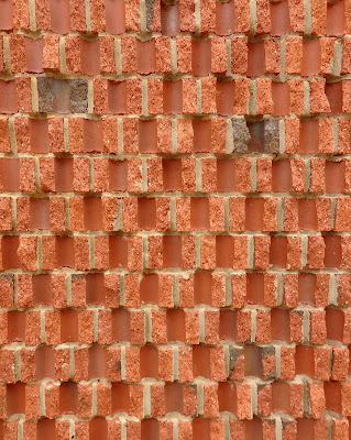 split brick facade