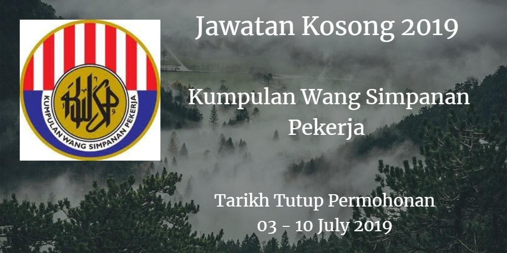 Jawatan Kosong KWSP 03 - 10 July 2019