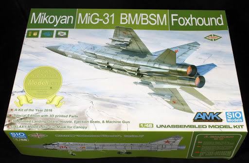 In-boxed: 1/48th scale Mikoyan MiG-31BM/BSM Foxhound from SIO Models