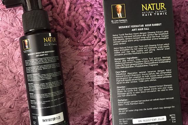 Kandungan Natur Hair Tonic Gingseng