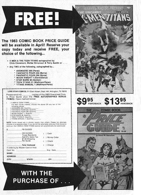 Marvel Comics of the 1980s: 1983 - Price Guide Ad with cool